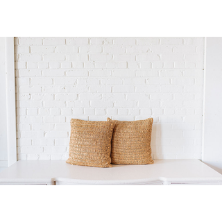 Pair of Square Rattan PIllows