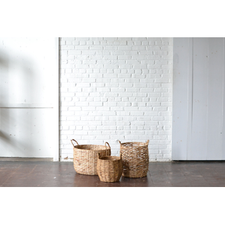 trio of wicker medium baskets