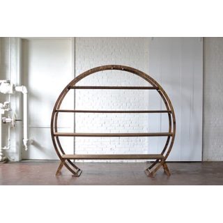 Round Wooden Arbor with Shelves