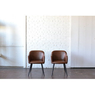 dark leather traditional art deco chairs