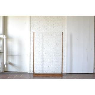 Freestanding Acrylic with Wood Trim