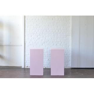 pair Pink Pedestals