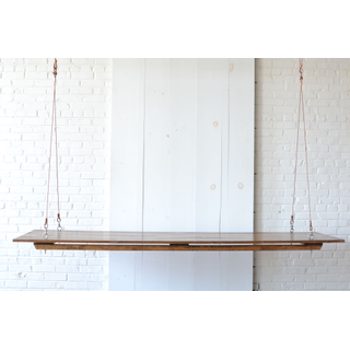 Hanging wooden Farm Table Copper Cable