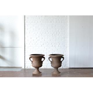 Pair of Handled Pedestal Urns