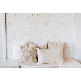 Collection of Assorted Neutral Pillows
