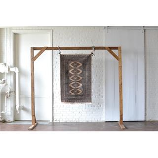black tan geometric pattern rug
