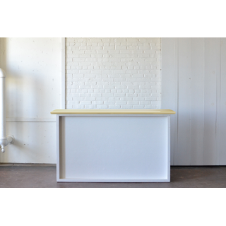 Shadowbox Bar (ight Wood Top and Plexi Front