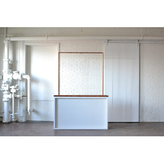 Shadowbox Bar with Truss Wood Top and Plexi Front