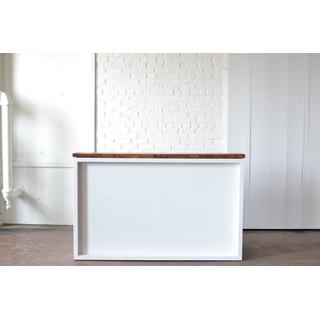 White Shadowbox Bar Wood Top and Plexi