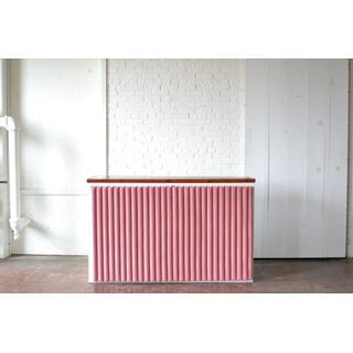 Shadowbox Bar with pink velvet Insert (Wood Top)