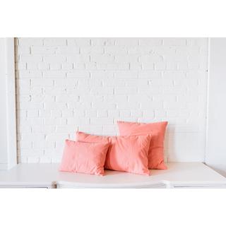 three trio coral pillows