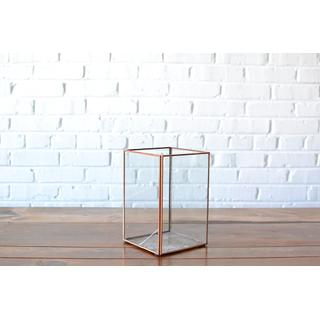 Square Glass Candleholder Large