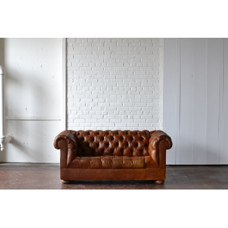 tufted leather sofa brown