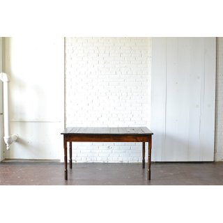 vintage wooden farm table