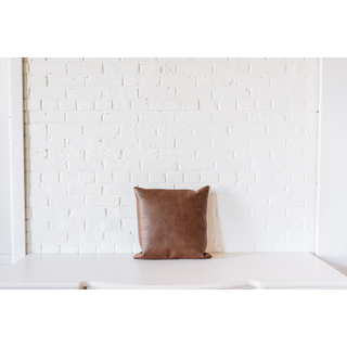 Leather Square PIllow