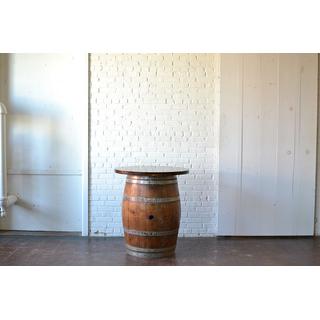 classic wine barrel wooden top