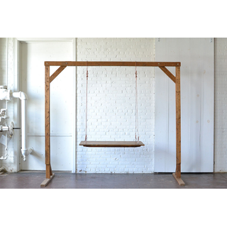 Small Hanging Farm Table copper Cable  Wooden Truss