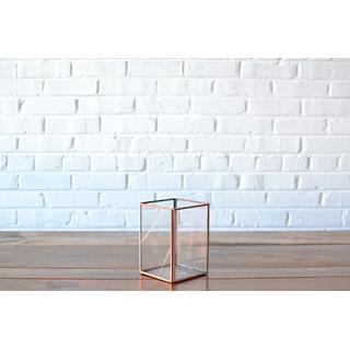 Square Glass Candleholder Medium