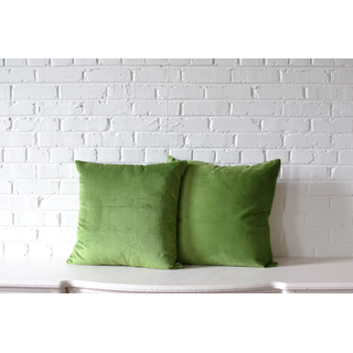 green velvet square pillows