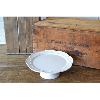 traditional white glass cake stand