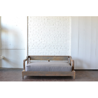 honey gray wooden daybed upholstered contemporary