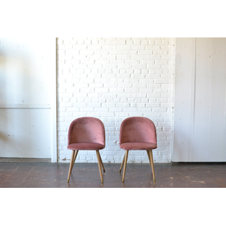 velvet blush pink modern chairs
