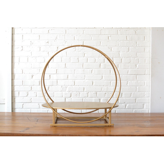 gold round tabletop shelf