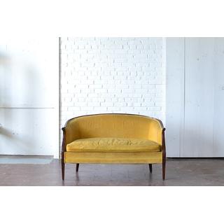 classic gold velvet upholstered seating