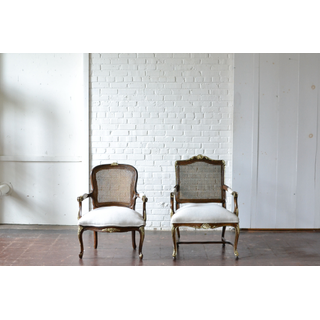 dark wooden upholstered chairs