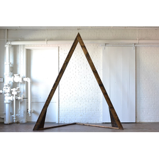 contemporary pointed wooden arbor