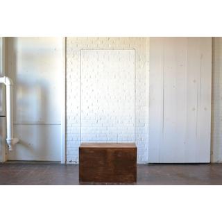 acrylic panel wooden modern base on white backround