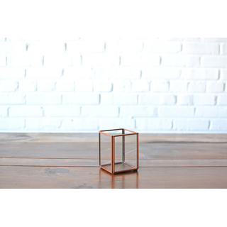 Square Glass Candleholder Small
