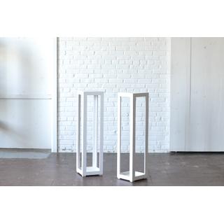 Pair Modern White wooden columns