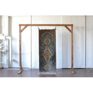 blue rust cream colored runner rug