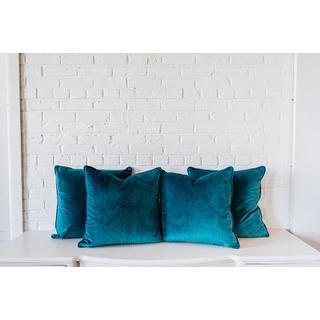 4 Jade Velvet Square PIllows