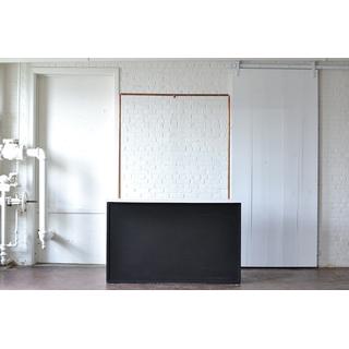 chalkboard bar copper truss white top