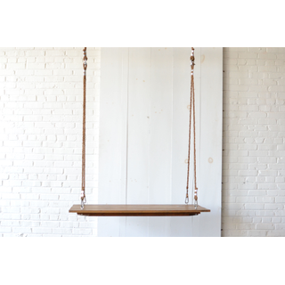 Small Hanging wooden Farm Table Rope