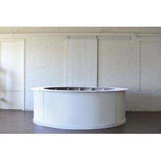white round customizable bar full on white background