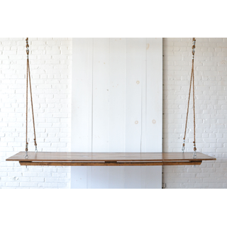 Hanging Wooden Farm Table Rope Rigging
