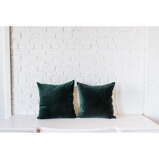 Pair of Green Velvet Square PIllows