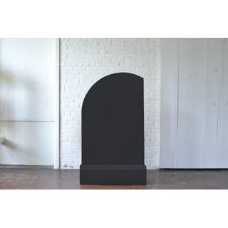Geometric Black Panel and Base