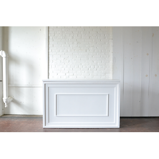 White bar with estate style bar front