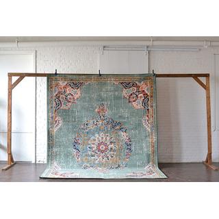 blue jewel toned large rug