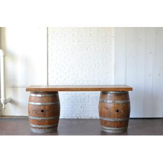 wooden Wine Barrel Bar
