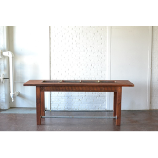 wooden metal rustic Trough Table