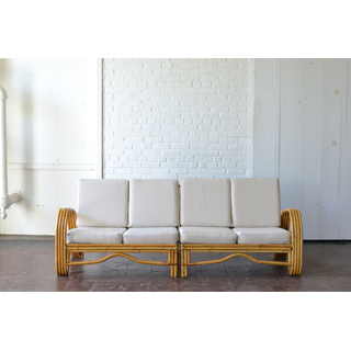 bamboo wooden seating neutral upholostery boho