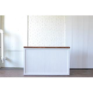 White Wooden Beadboard Bar