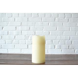 led pillar candle white