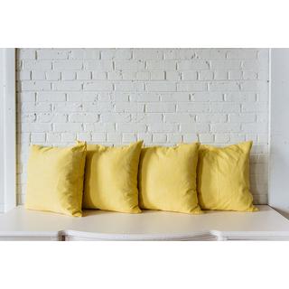 four yellow pillows