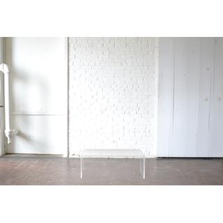Modern rectangular clear acrylic coffee table